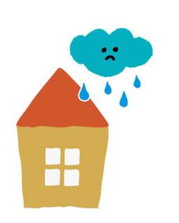 梅雨の雨のイラスト