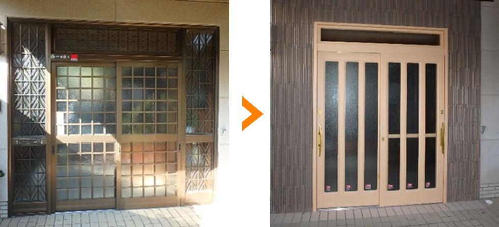 玄関戸の交換