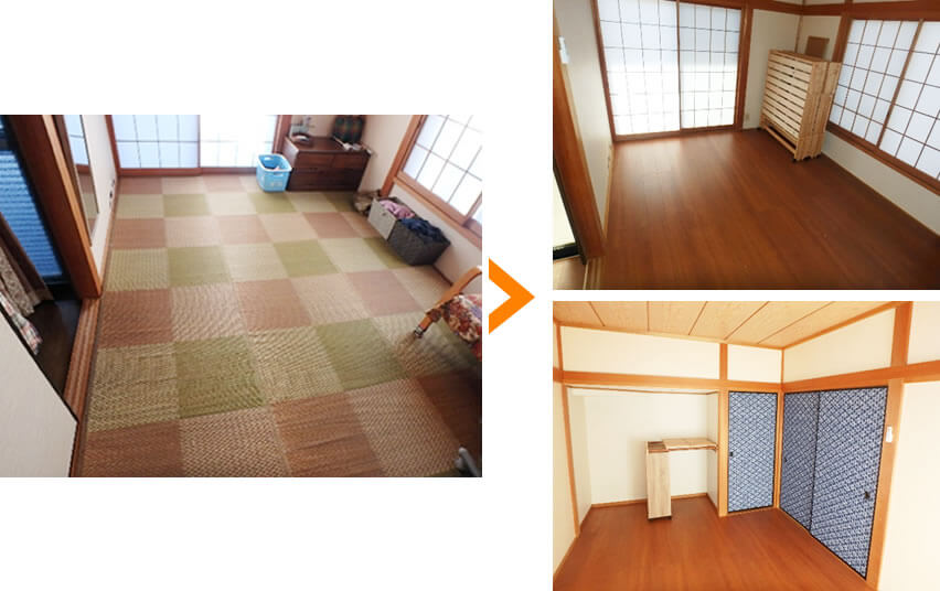 和室の改装の写真