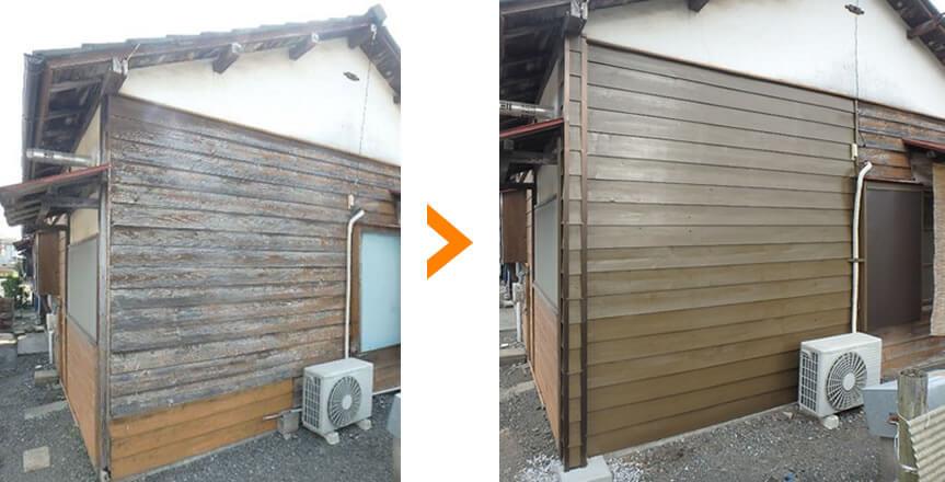 外壁の張り直し&塗装