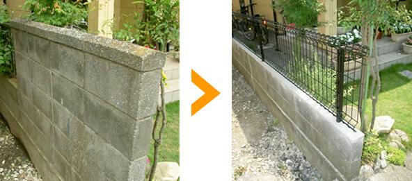 地震によるブロック塀倒壊を防ぐ