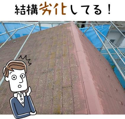 屋根が結構劣化してる!