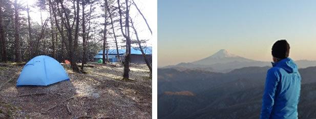 山梨県の笠取山