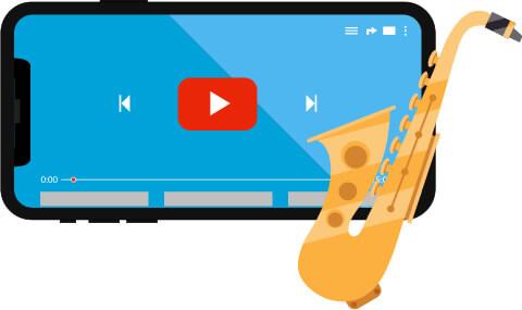 youtubeで見るサックスのレッスン動画