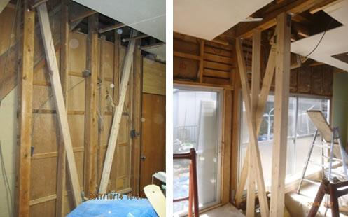 筋交い耐力壁補強工事