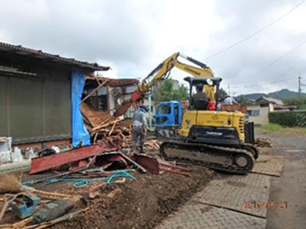 減築工事の解体作業