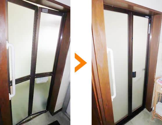 浴室扉の交換事例