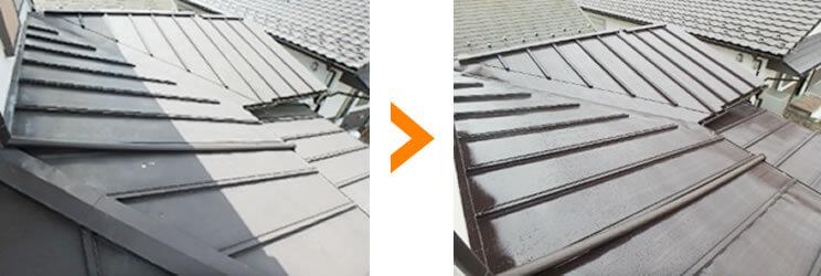 屋根塗装工事ビフォーアフター