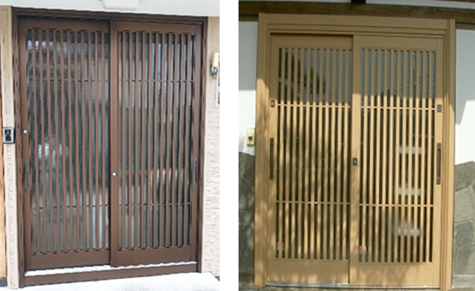 伝統和風の玄関ドア