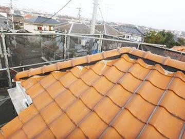 屋根の漆喰塗り替え