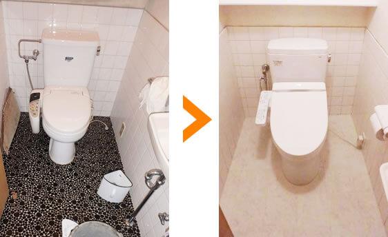 トイレの床張り替えリフォーム