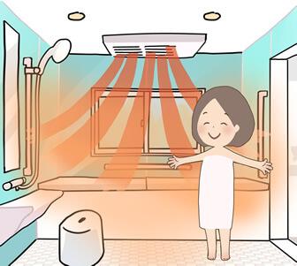 冬場でも暖かい浴室